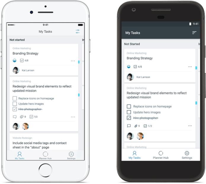 Приложение Planner для Android и iPhone