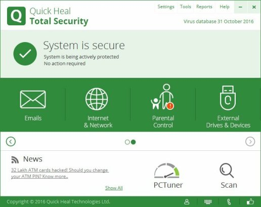 Quick Heal Total Security Serial Key + Crack [Latest Version]