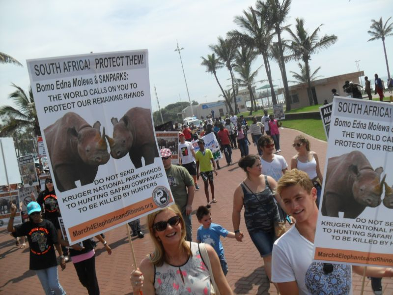 Global March for Elephants and Rhinos, Durban (3/4)