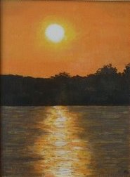 Sunset on the Herastrau Lake