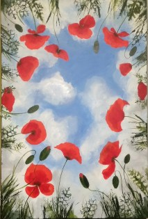 """24""""X36"""" gallery wrap ROMI Out of the cloud"""