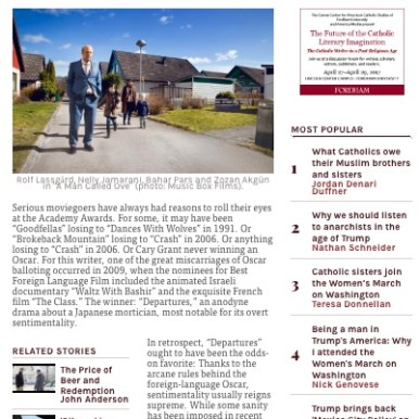 """A Man Called Ove"" America Magazine"