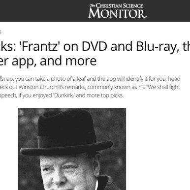"""Frantz"" in Christian Science Monitor"