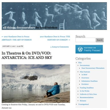 What Not To Doc; film review, Antarctica Ice & Sky