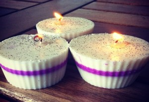 Coconut and ginger scented candles made by Phoenix Survivors Network