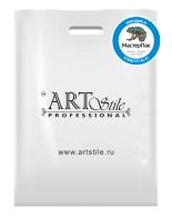 Брендированный пакет из ПВД в 70 мкм размером 36*45 см с логотипом ногтевой студии ART Stile