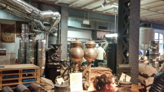 Coffee roaster in Speicherstadt Kaffeerösterei