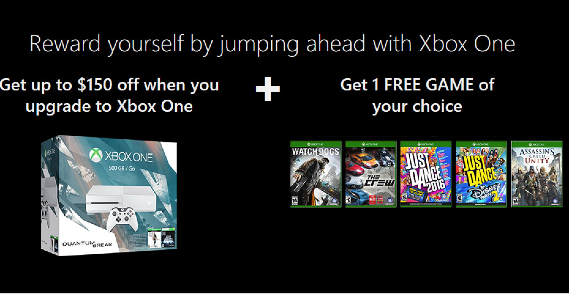 Deal Get Up To 150 Off The Xbox One And A Free Game Of