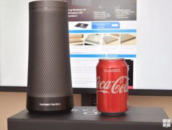 Invoke's size compared to a Coca Cola can