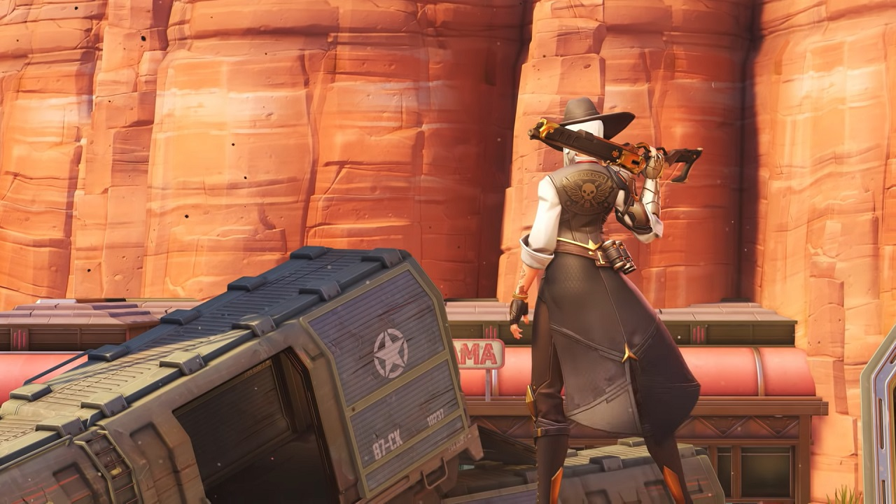 Overwatchs New Hero Ashe Comes Equipped With Two Guns Dynamite And A Summonable Companion
