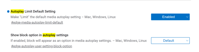 Microsoft Edge tarayıcısı yakında otomatik oynatılan videoyu varsayılan olarak engelleyebilir 13