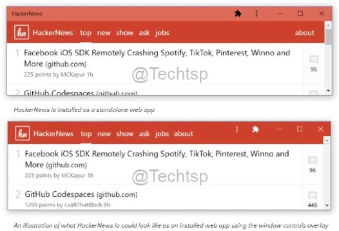 Microsoft, Edge PWA'ları görsel olarak normal Windows 10 uygulamalarından ayırt edilemez hale getirmek istiyor