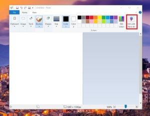 The MS Paint application loses Paint3D integration
