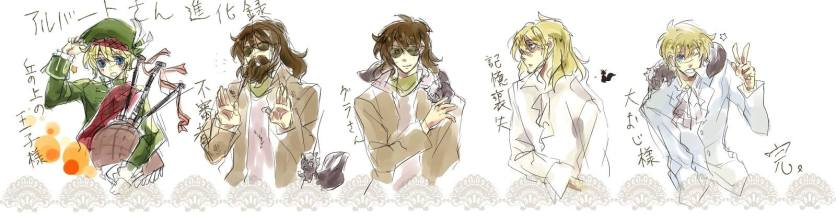 Evolution of Albert-san