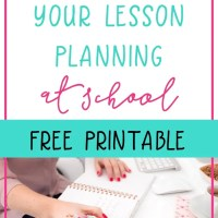 How to do all your lesson planning at school