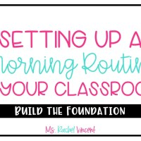 Setting Up a Classroom Morning Routine