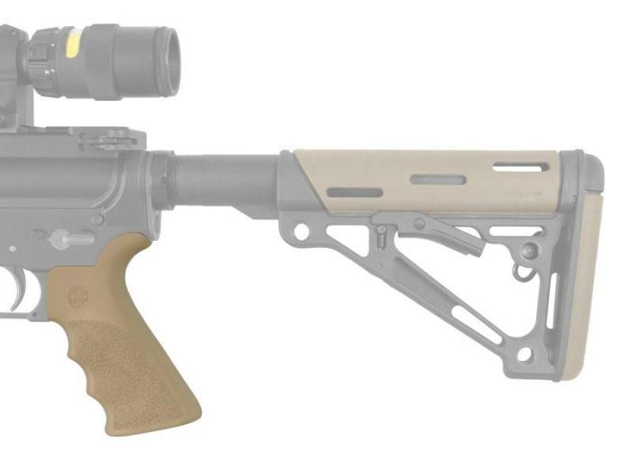 Hogue AR-15/M-16 Rubber Grip Beavertail with Finger Grooves (Options)