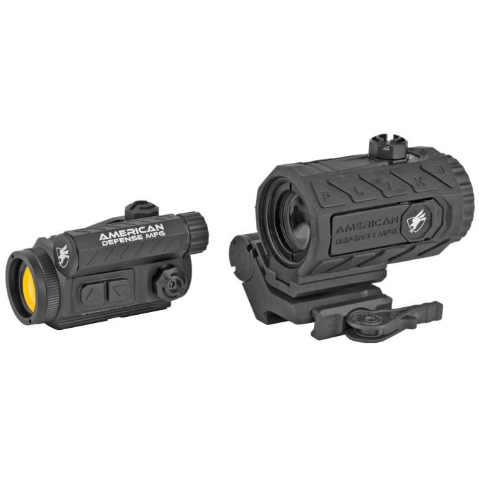 American Defense Mfg Duo Spek/Flik3 Optic/Magnifier Package - MSR Arms