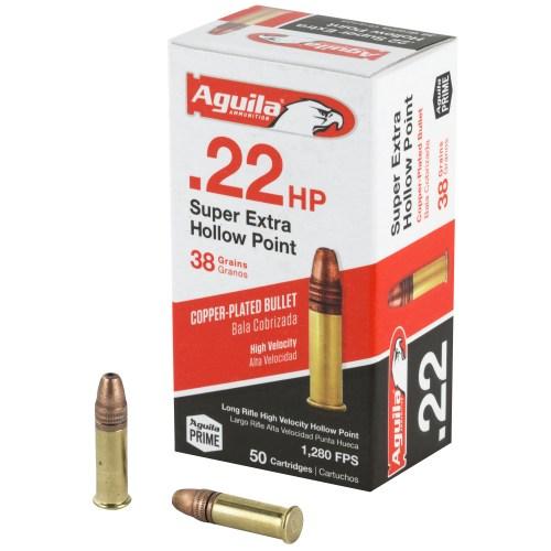 Aguila Ammunition 22LR 38GR Super Extra Hollow Point 50 Round Box - MSR Arms