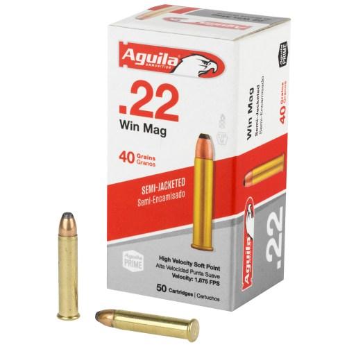 Aguila Ammunition 22WMR 40GR Magnum Soft Point 50 Round Box - MSR Arms