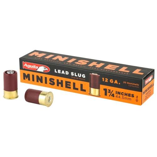 """Aguila Ammunition 12GA 1.75"""" 7/8 Oz. Lead Slug Minishell 20 Round Box - MSR Arms"""