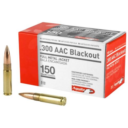 Aguila Ammunition 300AAC Blackout 150GR FMJ 50 Round Box - MSR Arms