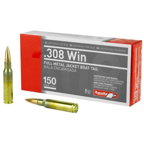 Aguila Ammunition 308Win 150GR FMJBT 20 Round Box - MSR Arms