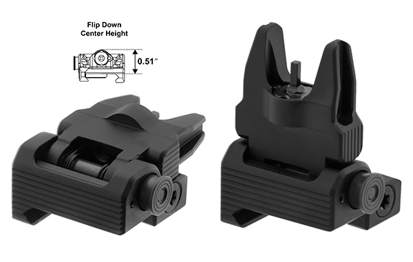 Leapers UTG Accu-Sync Spring-loaded AR-15 Flip-up Front Sight - MSR Arms 1