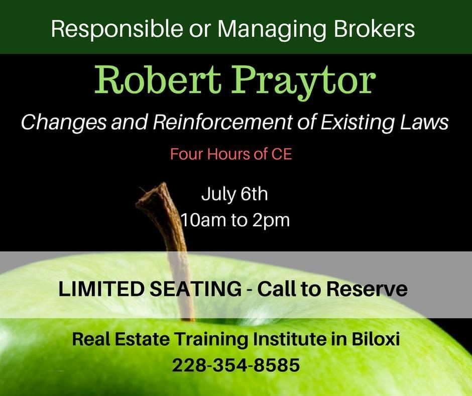 Real Estate Training : Robert praytor speaks mississippi real estate commission