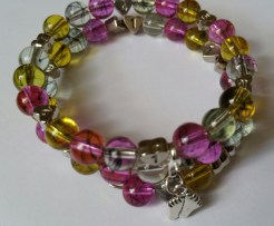 Pink & Yellow Breastfeeding Bracelet