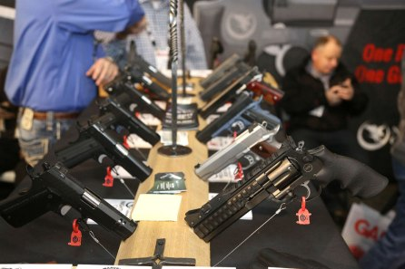 Row of new Pistols at SHOT Show