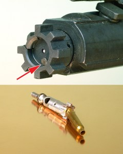 Ejector Detail in Bolt and Ejector Case Leverage