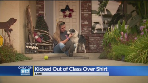 teen kicked out of class
