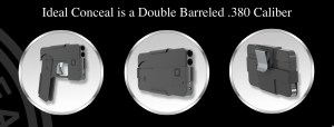 IdealConceal.com's cellphone look-a-like transforms into a double-barreled .380 caliber firearm.