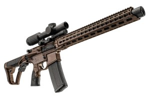 The DDM4ISR features a pistol-length gas system and comes standard with an MFR XL 15.0 modular handguard. A Mil Spec + Cerakote finish protects the rifle from the elements.