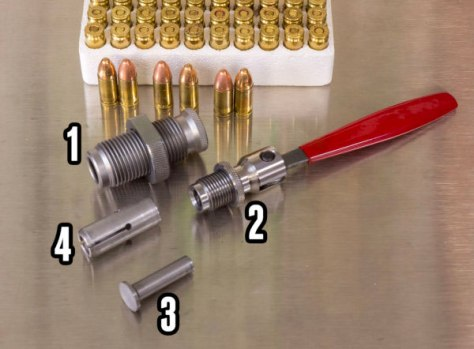 The components of the Hornady Cam Lock bullet puller