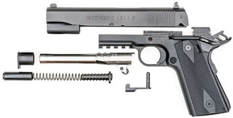 EAA Witness Elite 1911 Polymer exlpoded view