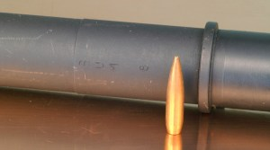 Bullet weight, mostly, determines barrel throat life. Why? The heavier the bullet, the slower it accelerates, and the more time the flame from burning propellant has to torch into the metal. Even though a lighter bullet is burning more propellant, it's the intensity of the cutting that does the most damage.