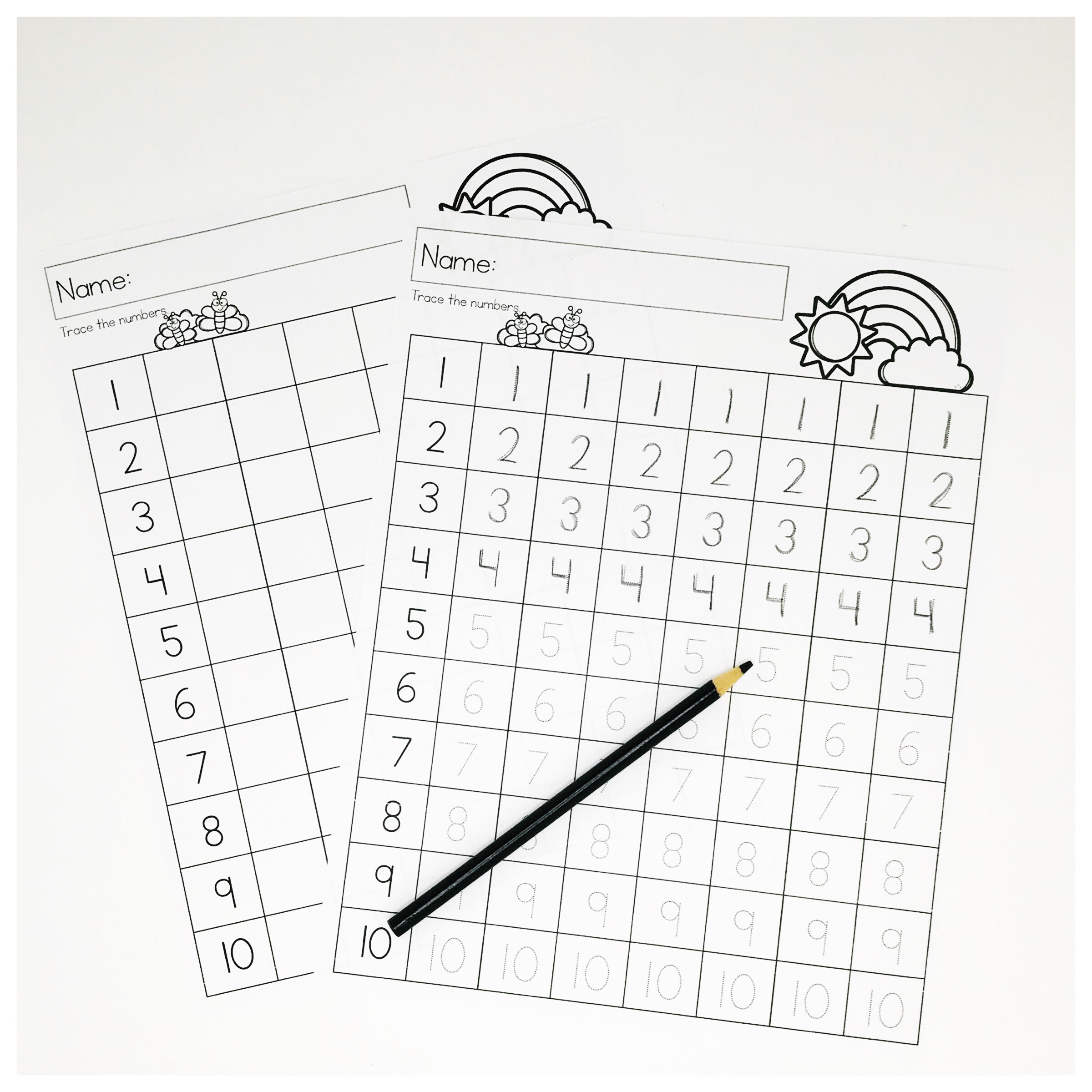 Spring Preschool Math Worksheets