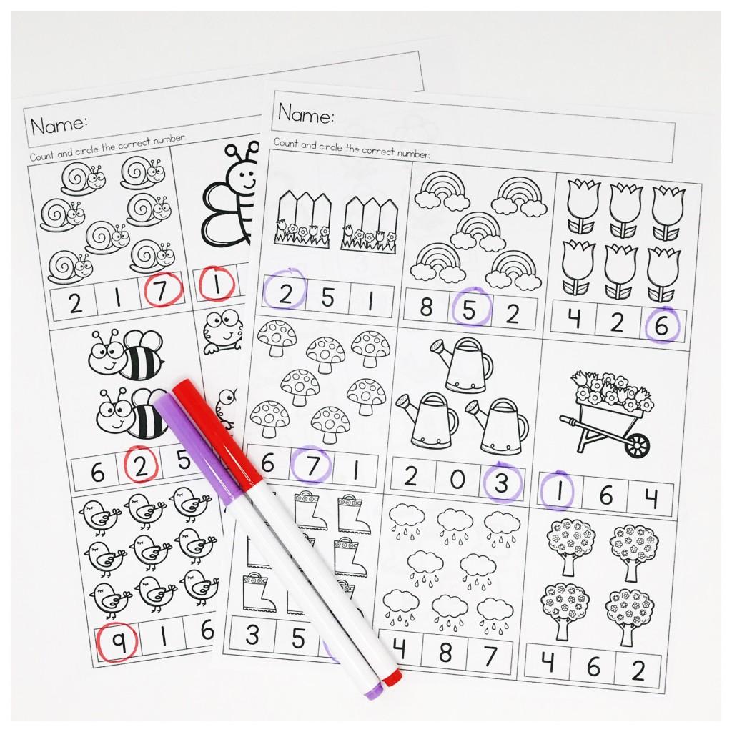 Spring Preschool Math Worksheets