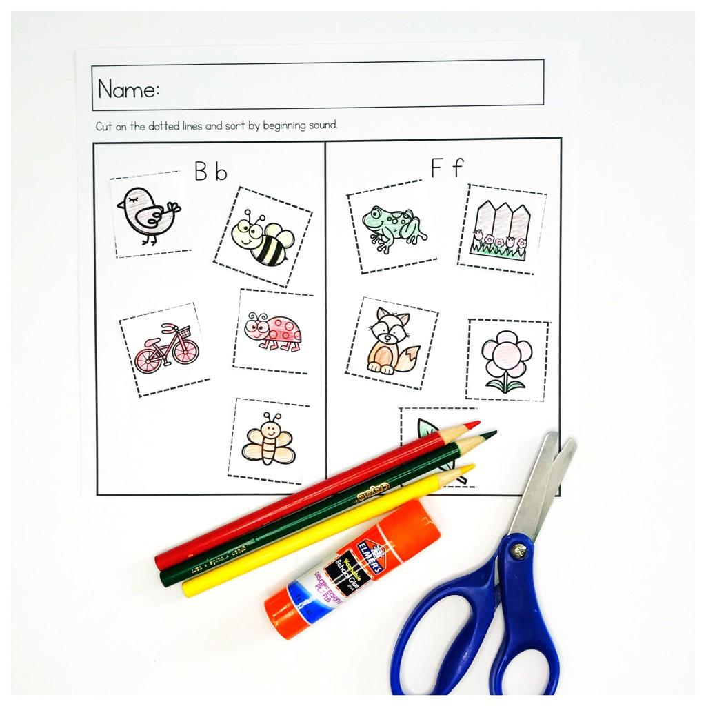 Spring Preschool Literacy Worksheets