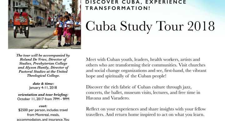 CUBA STUDY TOUR 2018 DISCOVER CUBA! EXPERIENCE TRANSFORMATION!