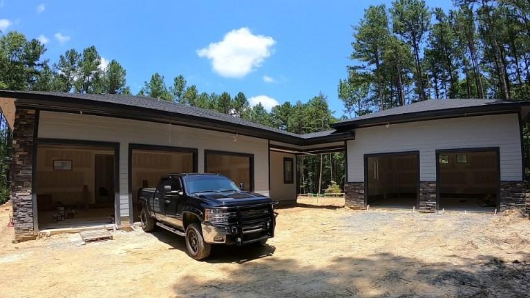 Six car garage setup at Windfall Creek