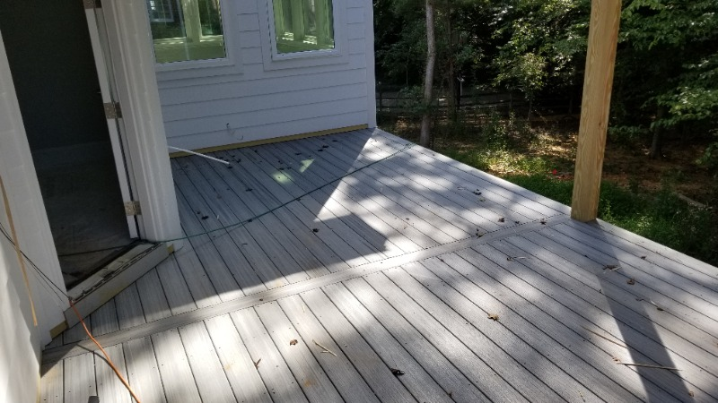 Trex decking at the City of Durham custom home