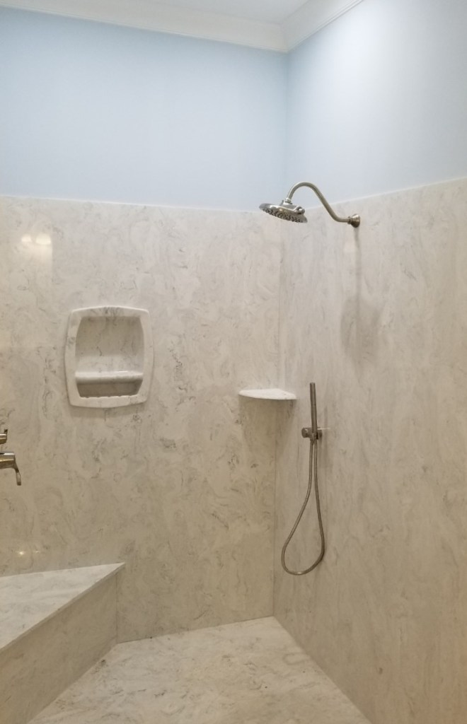 City of Durham custom  owners zero-entry shower