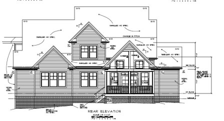Orange County Estate Rear Elevation