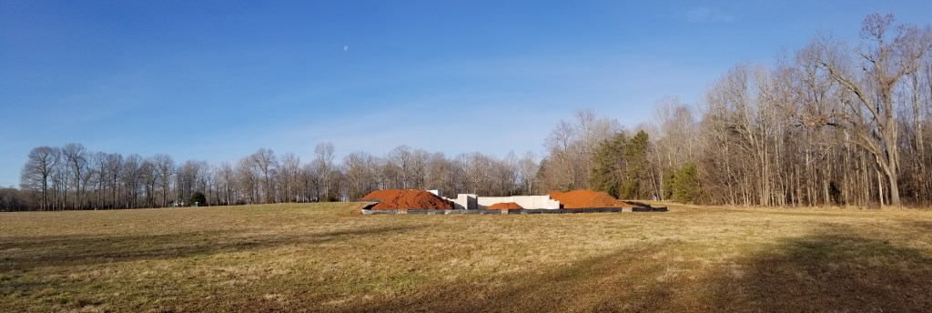 Eno Springs I foundation is under way.