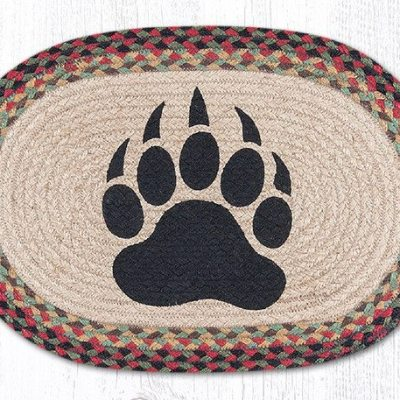 Bear Paw 48-081BP Oval Placemat 13x19