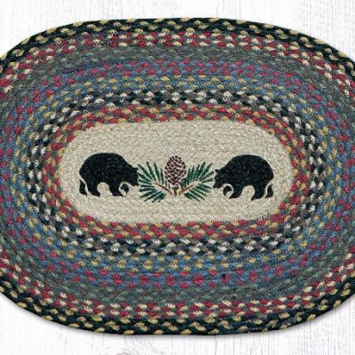 Black Bears 48-043BB Oval Placemat 13x19