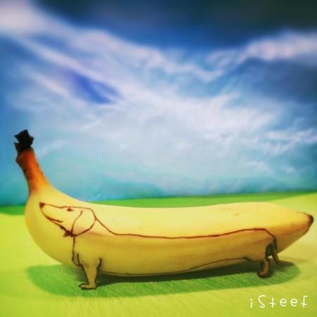 把香蕉吃下肚之前,剝皮也可以很藝術